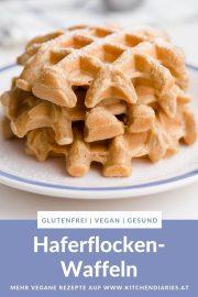 vegane haferflocken-waffeln bild für pinterest